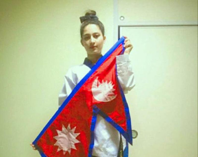 अमेरिकामा भएको खुला तेक्वान्दो पुम्से प्रतियोगितामा नेपालकी सन्दिपालाई कांस्य पदक